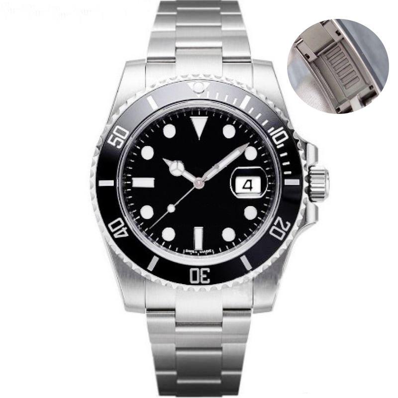 homens painel de cerâmica relógio de negócios zipper de aço inoxidável pulseira de relógio mecânico automático 2813 esportes safira homens impermeáveis mergulho assistir