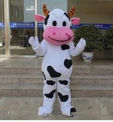 Hot Cow Mascot Costume Fancy Dress Adult Size Free Shipping 50