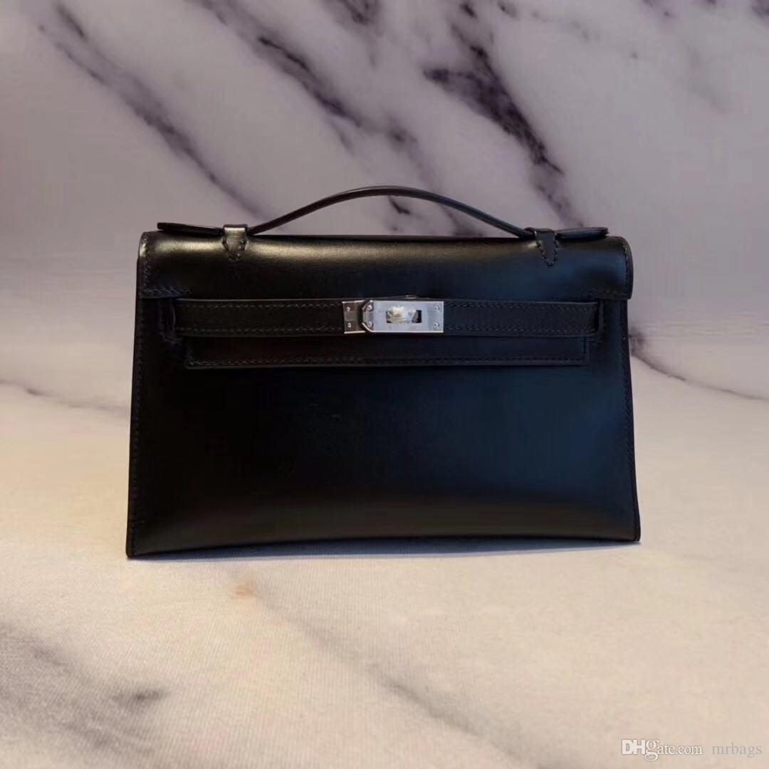 High-end custom classic ladies handbags Paris designer designer evening bag fashion ladies style BOX leather handmade
