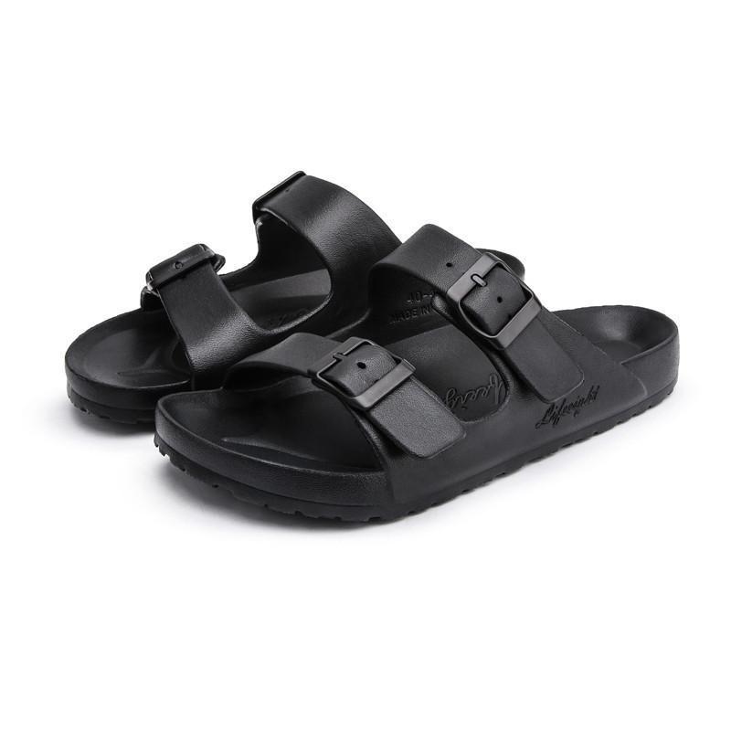 الرجال الصيف بيتش أحذية كورك الترفيه النعال الأزياء زوجين النعال المتأرجح مريح الأحذية للجنسين الإبزيم صنادل بالاضافة الى حجم 35-44