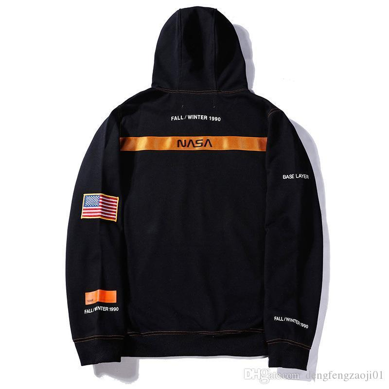 Europe and the United States trendy brand name sweater American flag letter hoodie loose men and women hooded good quality