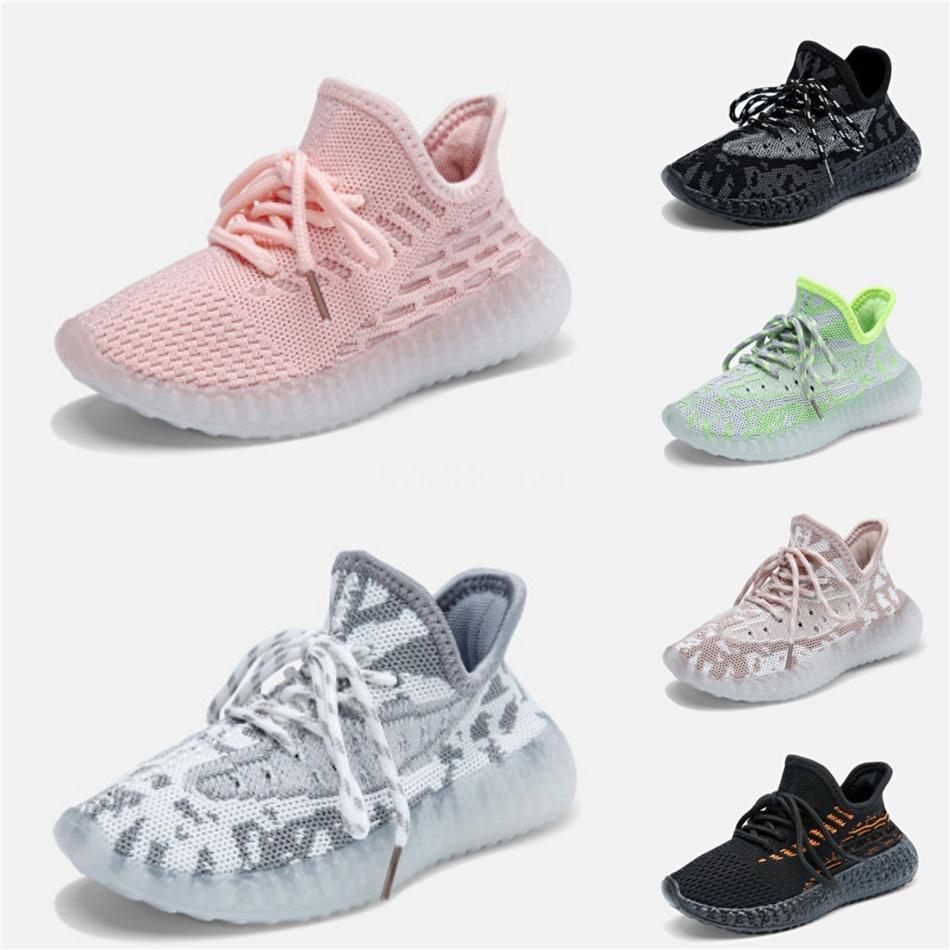 Top qualité Enfants Kanye West 35O Alien Mist 3M Reflective Designer Tout-petits Sneakers Clay Beluga Triple Noir White Boys gilrs Chaussures # 979