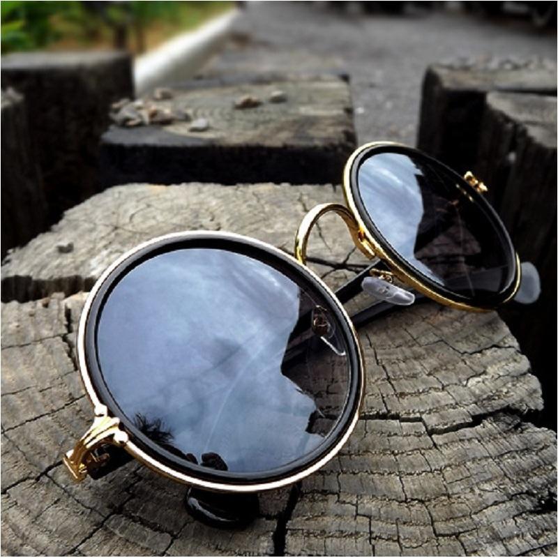 Proteção Eyewear Chegada homem Mulheres Óculos de Sol Marca Revestimento Colorido Novo 2019 Óculos UV Lente Goggle Round Unisex Roxks