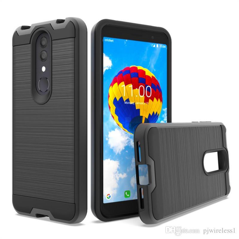 Alcatel 오닉스 크리켓 1X 2019 용 Samsung s10 plus s10e 전화 케이스 용 Alcatel 3 용 브러쉬 드 케이스 REVVL 2 5052W 커버 B