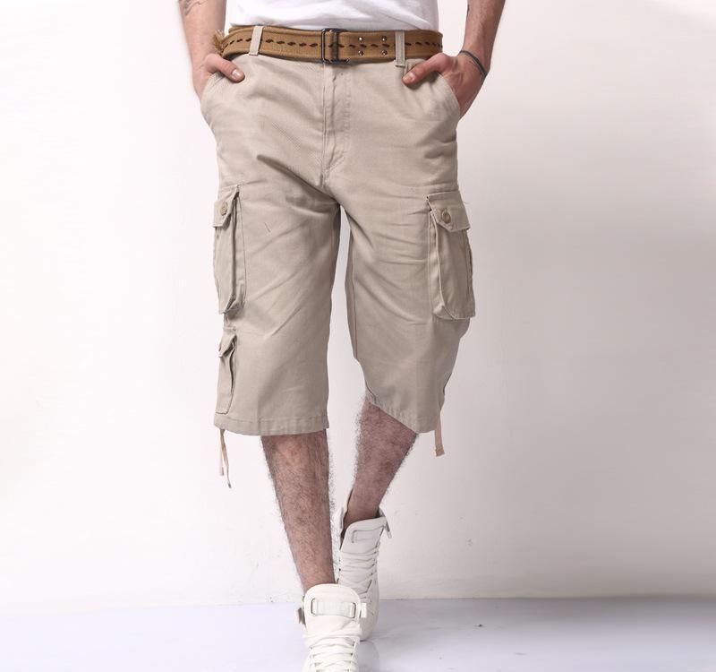 mens three quarter shorts