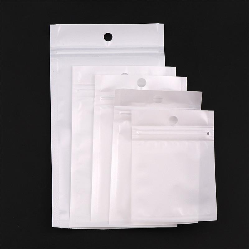 Clear + White Pearl Kunststoff Poly OPP Verpackung Zipper Selbst Seal Einzelhandel Pakete PVC-Beutel für Case für iPhone X XR XS Samsung Galaxy Gesichtsmasken