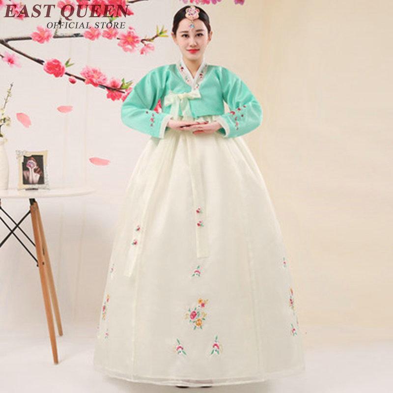 Mayor de Corea hanbok vestido antiguo vestido tradicional coreano hanbok Nacional bordado de la ropa de Asia HQ KK1558 Ropa