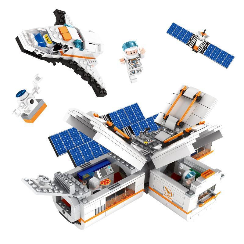 732pcs children Small granule space station Assembling building blocks toys kids boys intelligence toys DIY Gift toys 04
