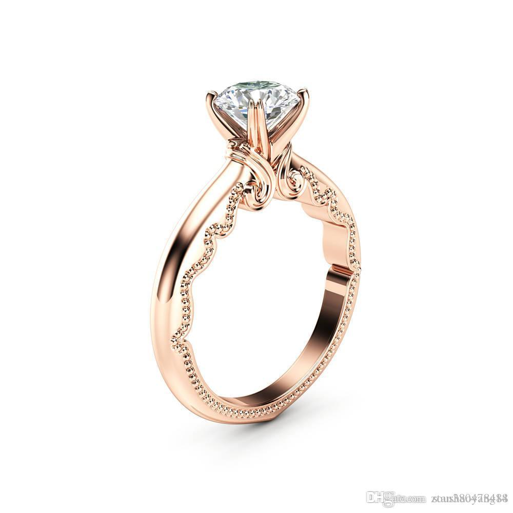 2020 Exquisite High Quality 14k Rose Gold Jewelry European And