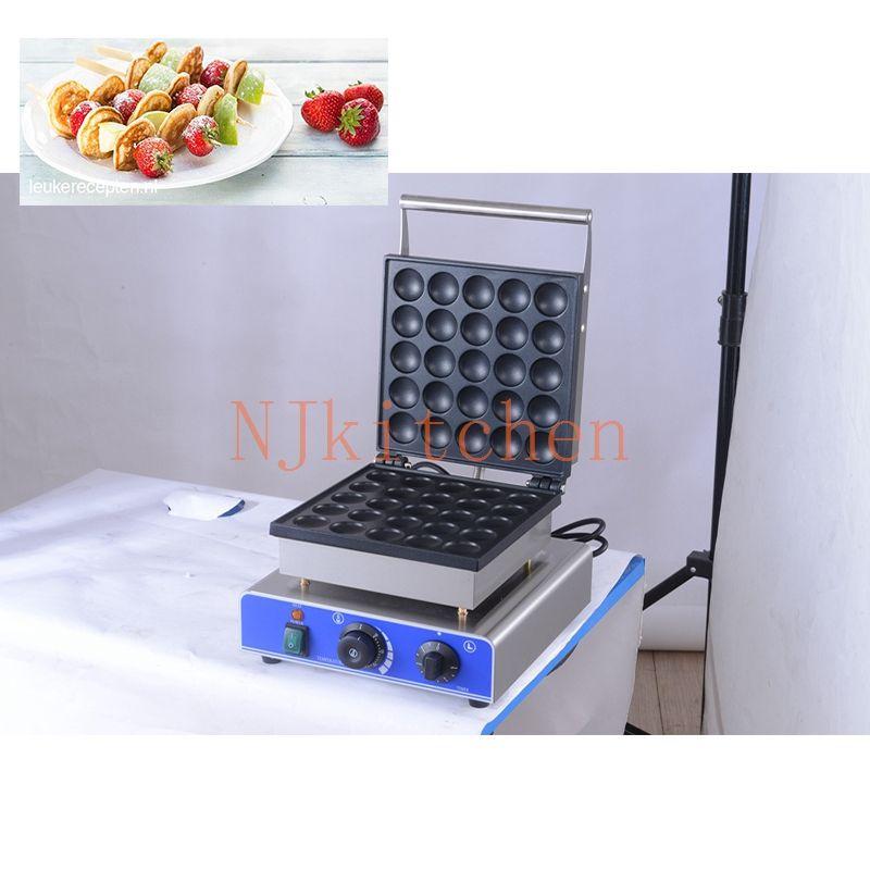 Ticari 25 Delikler poffertjes ızgara makinesi küçük kek pişirme ekipmanları, mini gözleme aperatif makinesi dorayaki makinesi