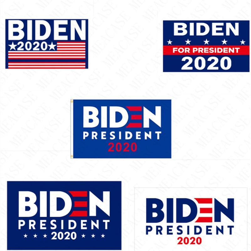 90*150CM BIDEN 2020 Presidential Campaign Flag The US Election Biden Letters Garden Flags Polyester Garden Home Flags D62901