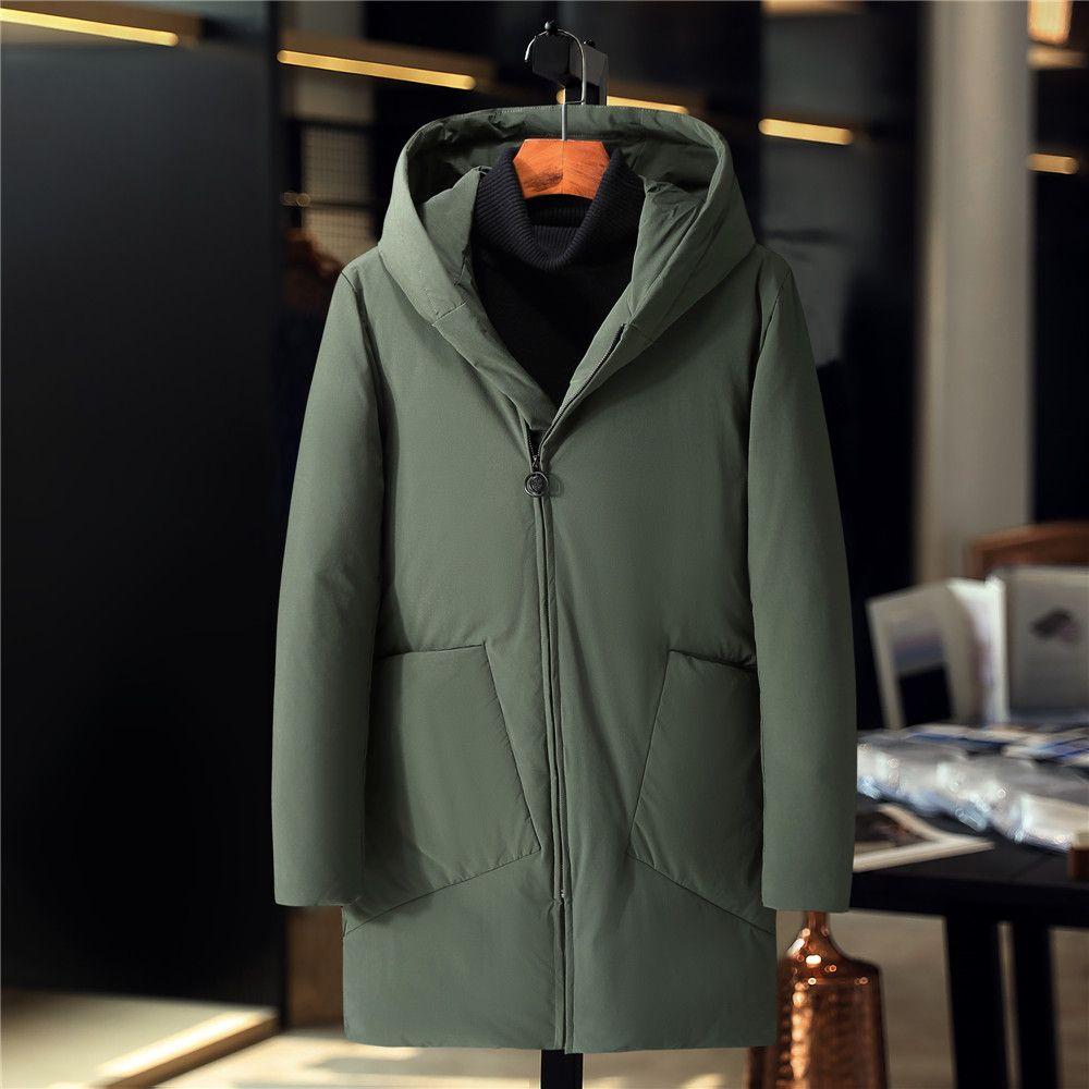 2019 novos jaqueta Norte coat exterior frio prova masculina meados de inverno longo outono jaqueta casuais xf8010 jaqueta de algodão quente