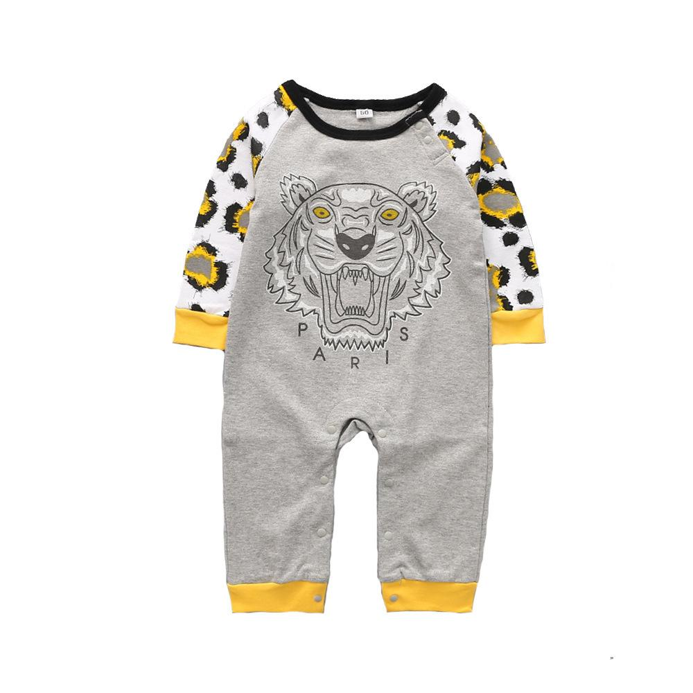 Baby-Spielanzug-Frühlings-Herbst-Karikatur-Baby-Kleidung Baumwolle Langarm Kinder Jumpsuits Junge Mädchen Strampler Outfits Baby-Kleidung