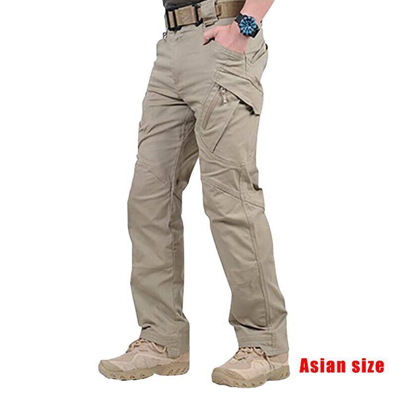 2019 pantaloni da lavoro merci lunghi recente uomini impermeabile con tasche pantaloni allentati NDJ