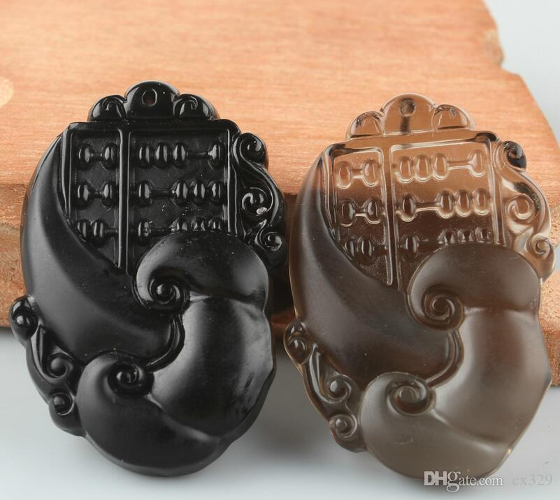 Natural ice species obsidian wishful abacus pendant boutique men and women models wishful abacus pendant manufacturers wholesale