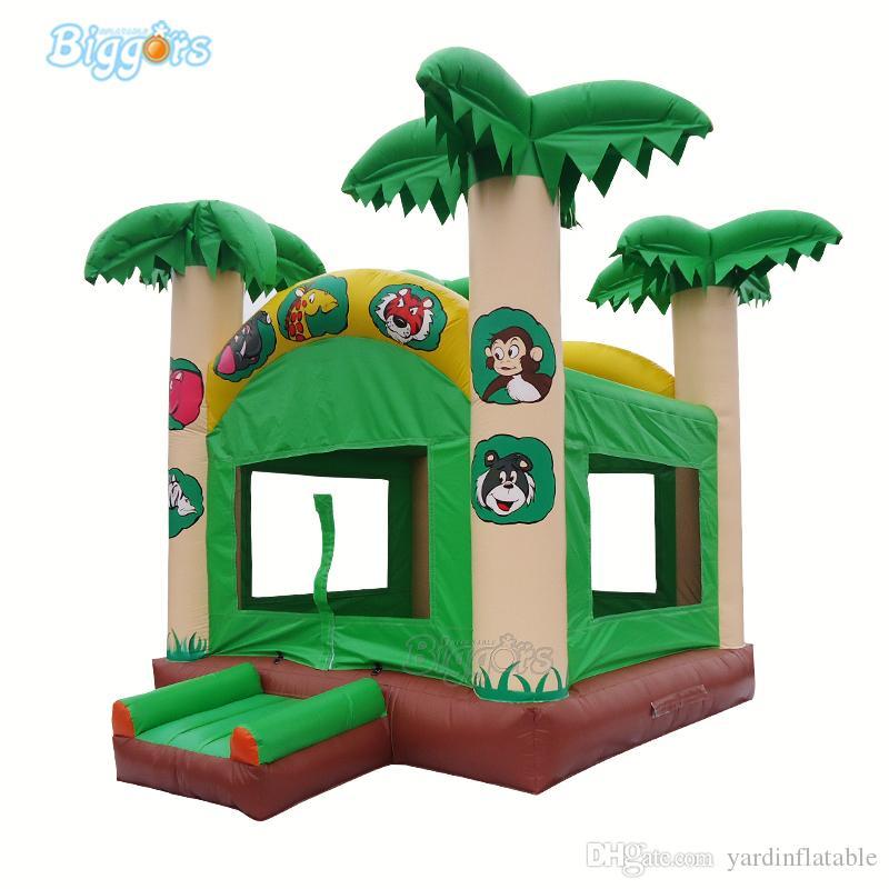 Palm Tree Forest Bouncy Castelo Jump diversão Bounce Casas Inflatables Hire Bouncer Atacado com sopradores livres