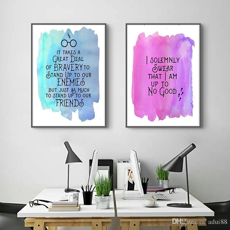 2 Piece Quotes In Harry Potter HD Canvas Print Painting Modern Harry Potter Poster For Kids Room Home Decor (No Frame)