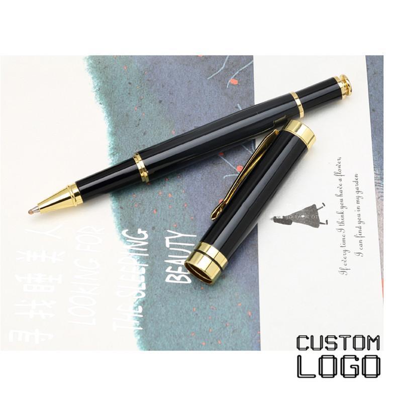 Impression personnalisée Nom Stylos personnalisés Métal Gravée Stylo à bille classique Bureau d'affaires Cadeau Signature Pen Papeterie étudiant
