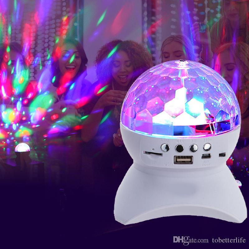Disco-Partei-Stadiums-Licht-Verein USB-TF-Karte DJ Laserlicht Mini RGB Bluetooth Musik-Lautsprecher-Projektor-Lampe