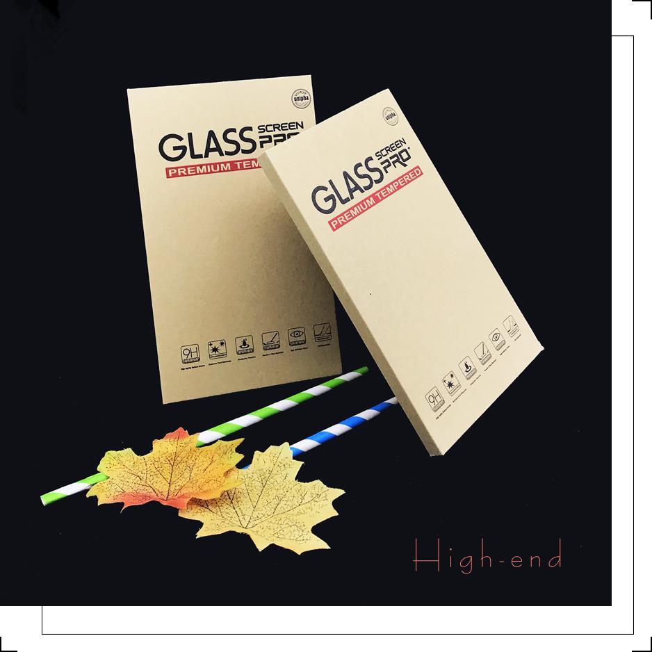 Универсальный Коричневый бумажная упаковка коробки розничной упаковка Упаковки для Moble Телефон закаленного стекла жесткого пакета 2074