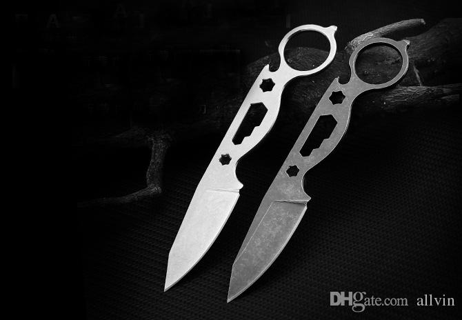 New Outdoor Multifunction Tactical Knives 440C Stone Wash Blade Full Tang Handle Fixed Blade Straight Knives With Kydex EDC Gear