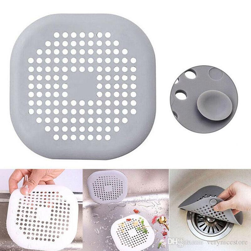 Hot Kitchen Sink Anti-blocage silicone drain de plancher Couvercle de vidange Salle de bain cheveux Sewer écran Drain de douche Couverture