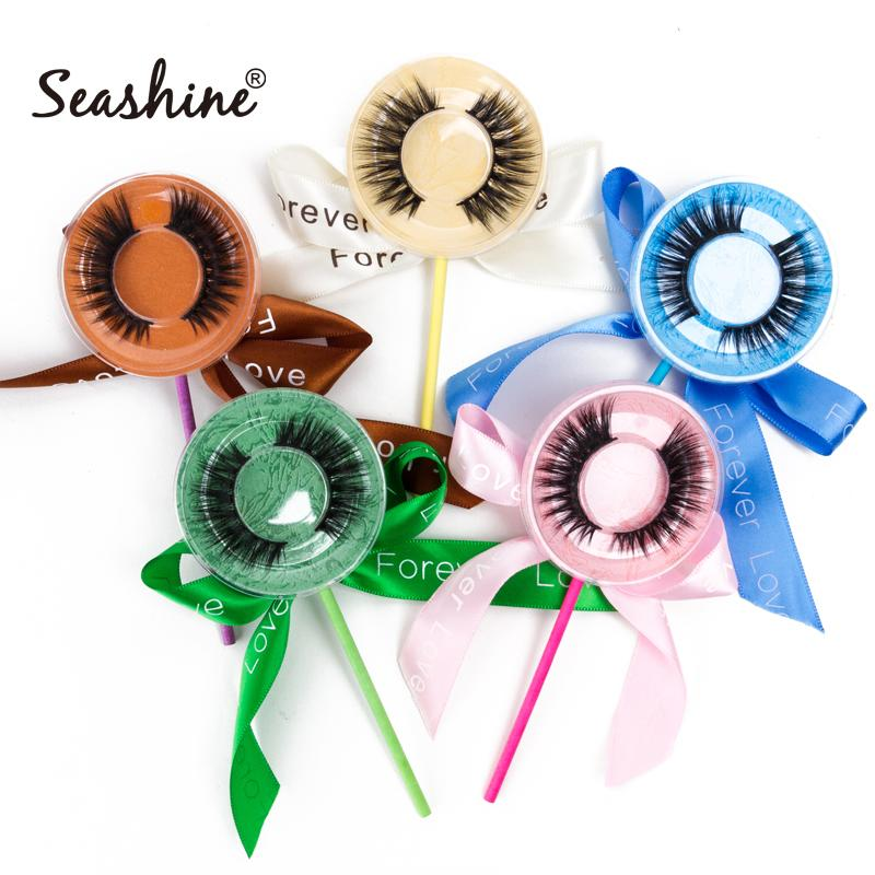 Lolipop paketi Lash Yanlış Mink Eyelashes El yapımı Lashes 3D Vizon Kirpikleri Göz Lashes Ücretsiz Kargo ile özel logo Tam şerit lasehs