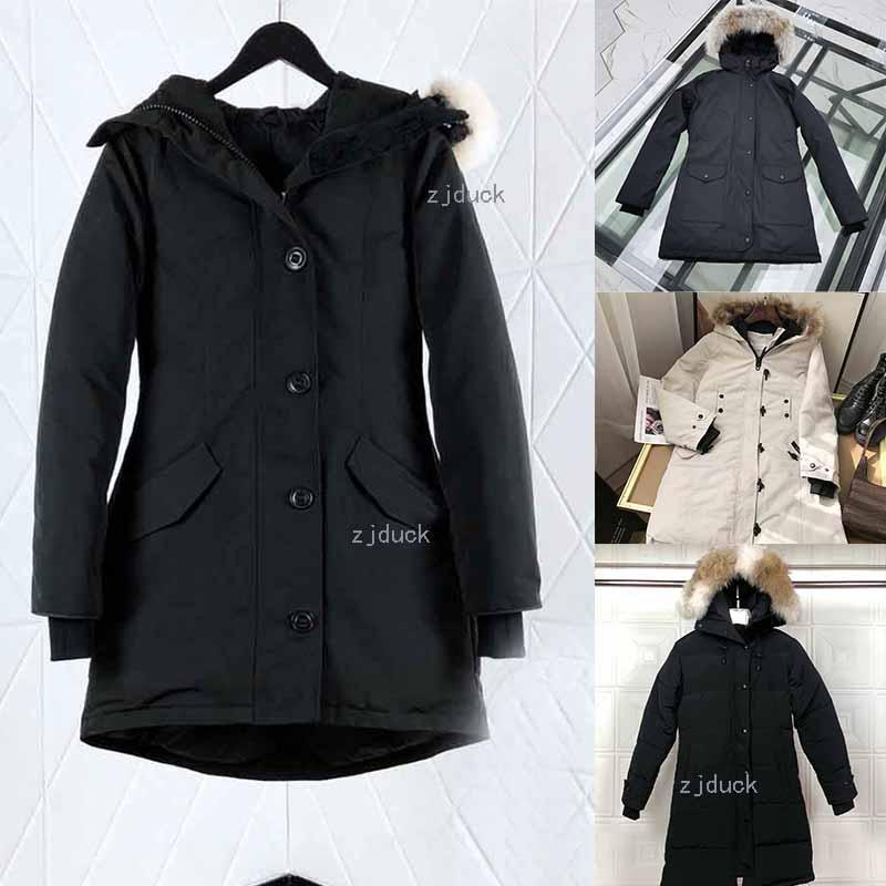 Горячий продавать женщин Виктория Femme на открытом воздухе Fur вниз PARKA Hiver Теплый ветрозащитный вниз пальто сгущает Fourrure с капюшоном куртки Manteaus Doudoun