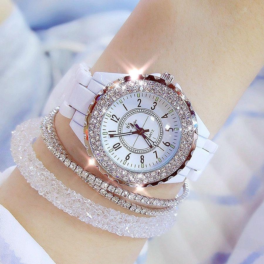 Women Watch Luxury Wrist Watch Women White Ceramic Fashion Ladies Watch Reloj Mujer Gifts For Women