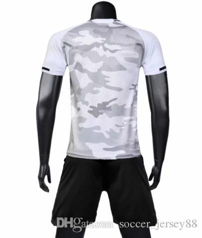 Nuevo llega el fútbol blanco Jersey # 705-1901-81 personalizar Venta de calidad superior caliente de secado rápido camiseta uniformes Jersey camisetas de fútbol