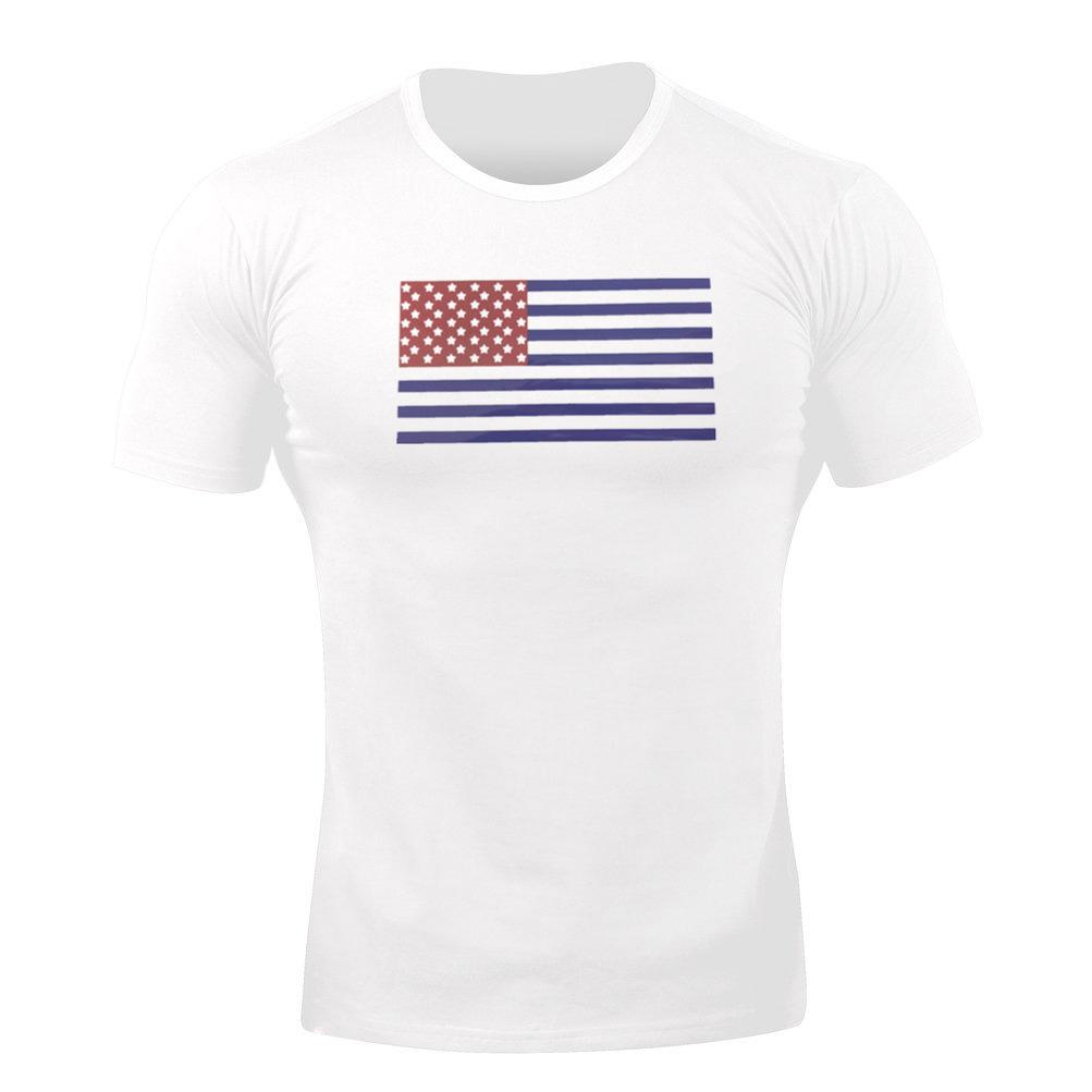 2019 Muscle Kid Frère Fitness Athletic T-shirt Chemise col rond d'été pour hommes Sweat Absorbant Respirant Courir Sport Court S