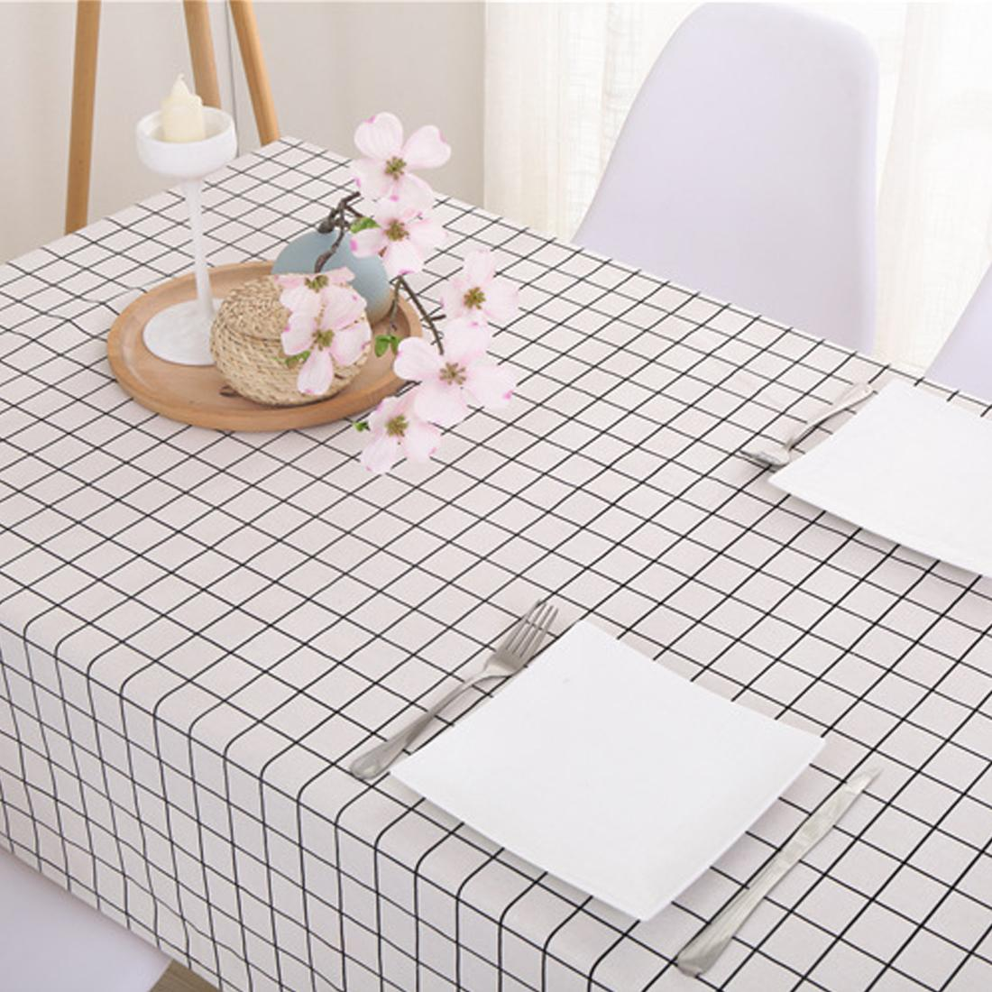 6 tailles Nappe de table Country Style Plaid Imprimer Rectangle Table Cover Accueil Nappe Textile Maison Cuisine Décoration