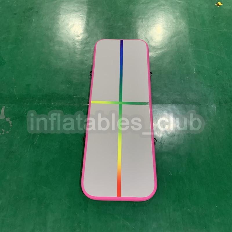 Neue Regenbogen Linie Aufblasbare Airtrack Mit Luftpumpe DWF 3 Mt Air Track Matten Für Gym Top Qualität Gymnastikmatte Förderung
