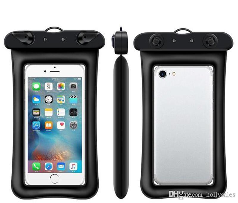 Universale Float Airbag nuoto impermeabile del sacchetto del telefono mobile della copertura della cassa secco PouchDiving alla deriva riving Trekking Borse