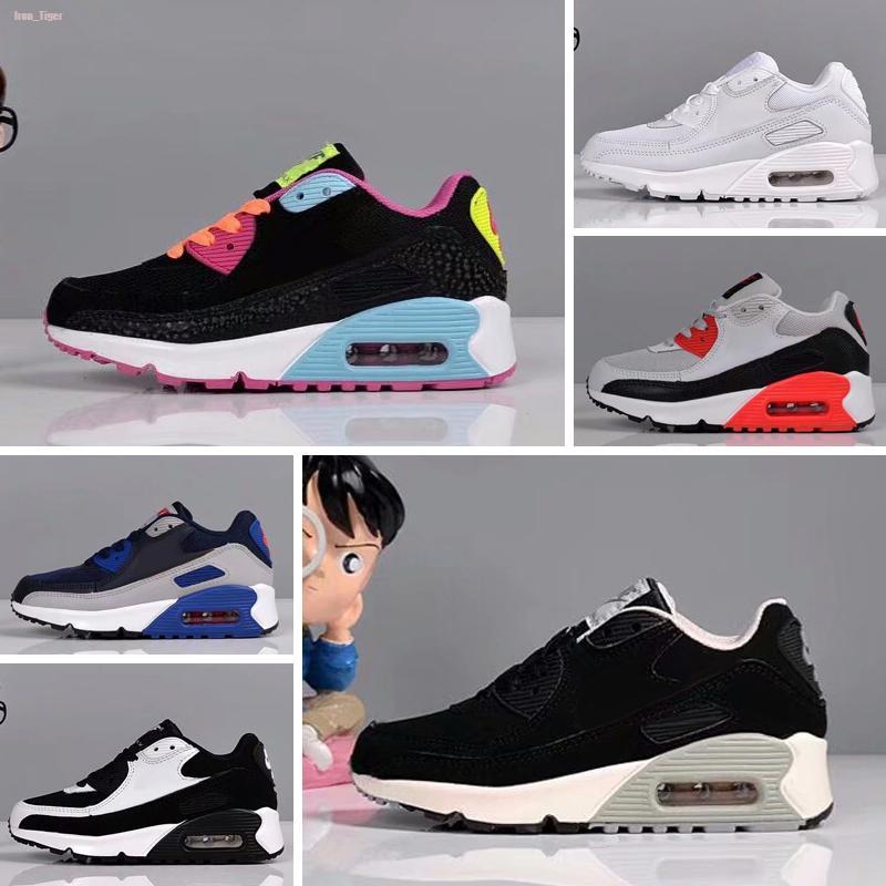 Nike air max 90 2020 barato caliente zapatillas de deporte de los niños Presto zapatos infantiles Deportes Chaussures Pour Enfants Formadores para bebé muchachos de las niñas 28-35