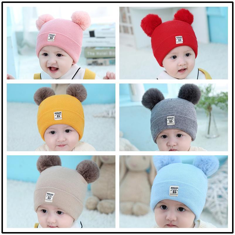 Шляпы малышей Детские Детские шапки Зимние теплые Knit Hat Beanie Cap Популярные Ountdoors Мода грелка Круг Loop для девочек для мальчиков Новый стиль
