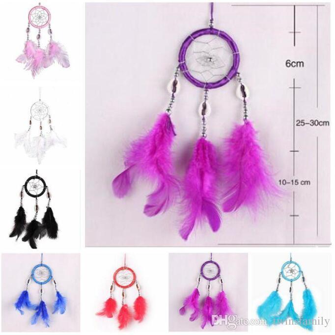 Feathers Handmade Dream Catcher car or handbag hanging decoration