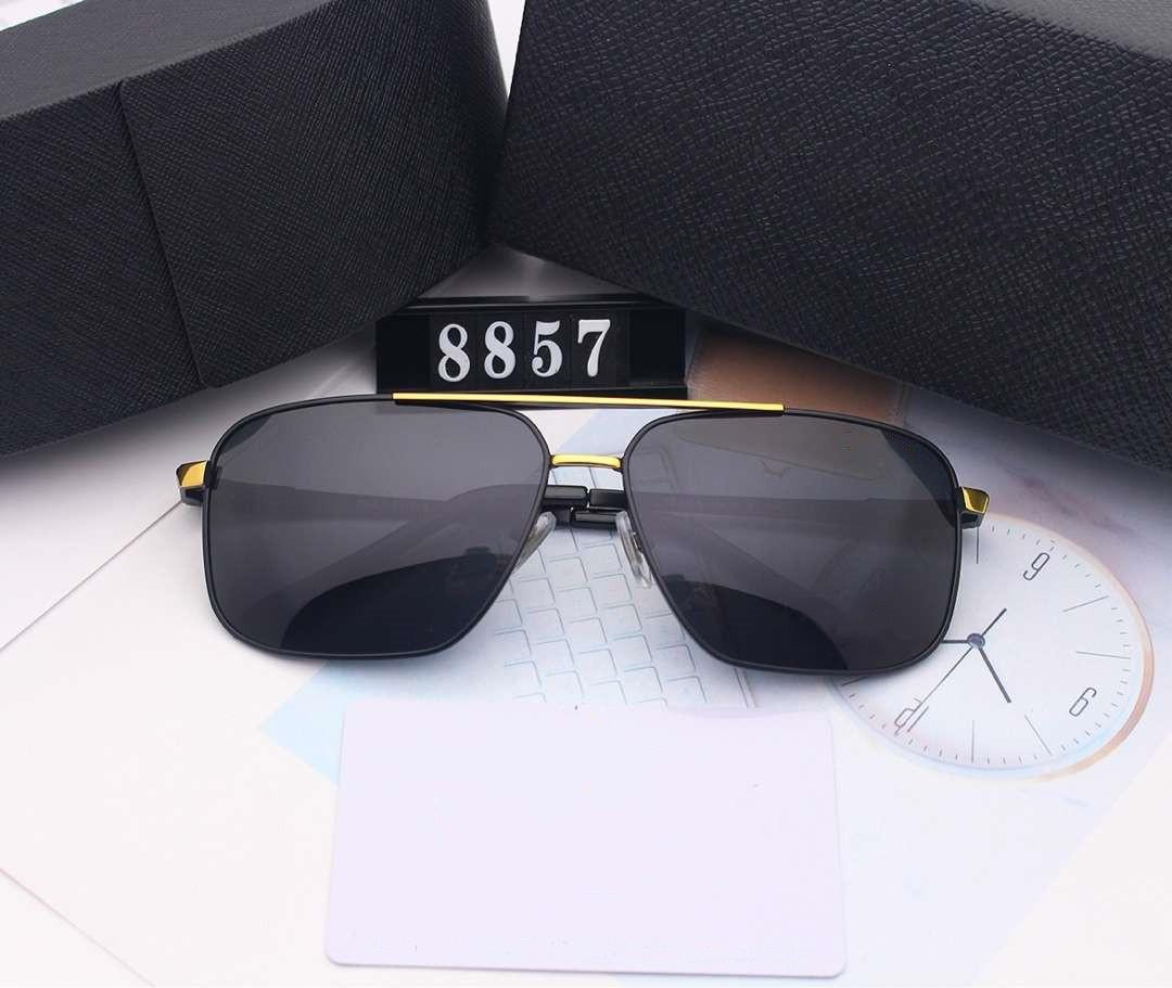 P رسالة العلامة التجارية مصمم رجالي نظارات شمس الصيف نظارات شمسية رجالية Adumbral حملق نظارات UV400 8857 4 ألوان عالية الجودة مع صندوق الساخن