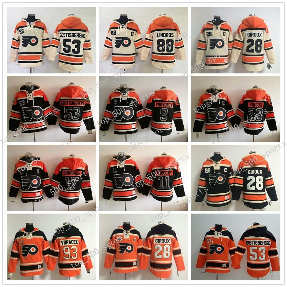 필라델피아 전단지 경기장 시리즈 후드 클로드 Giroux Gostisbehere Wayne Simmonds Voracek Ivan Provorov Lindros Hockey Sweatshirts Jersey