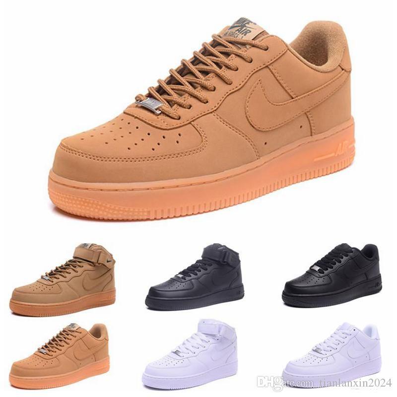 2019 nike air force 1 off white Flyknit Utility One 1 mens femmes Flyline Sports Skateboarding Chaussures High Low Cut Blanc Noir En Plein Air Baskets Sneaker taille 36-45
