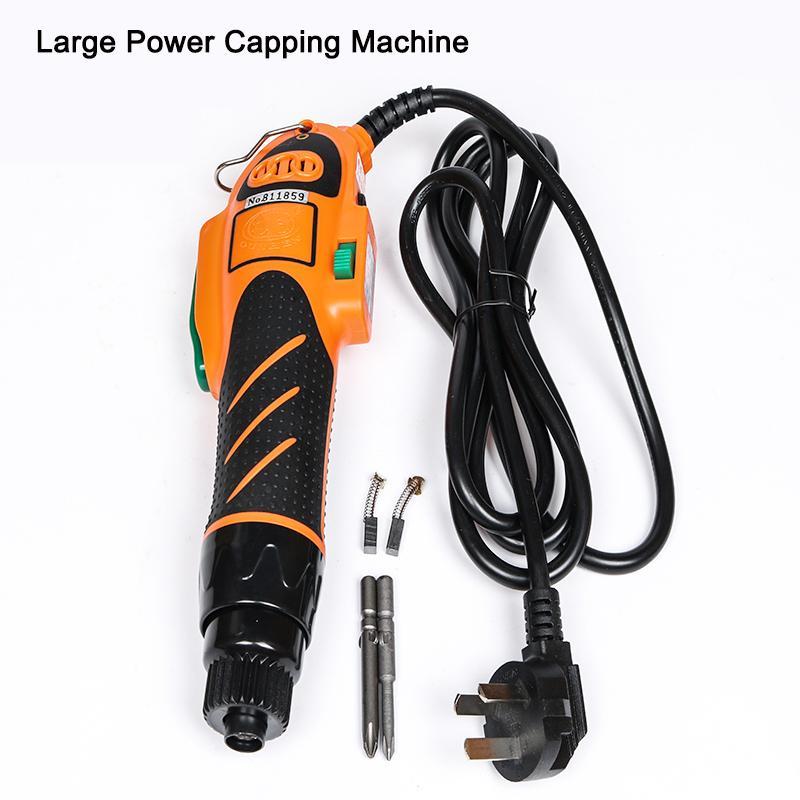 Navio Free Portable garrafa Handheld elétrico automático garrafa tampando Cap Screwing Selagem Capper Com Primavera Balancer 220V