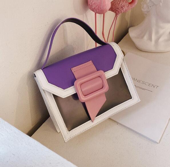 2020 سيدة حقائب الكتف حقيبة PVC المألوف سلسلة واحدة حقائب CROSSBODY أنثى PU ساحة حقيبة صغيرة