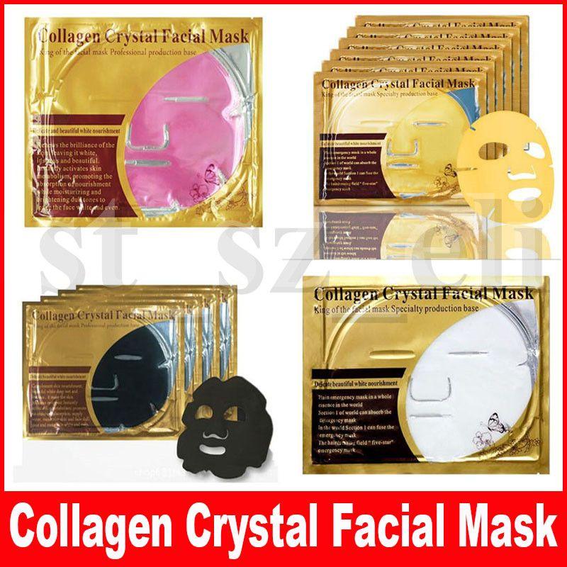 Bio-Collagen Facial Mask Face Mask Crystal Gold Black Pink White Powder Facial Mask Moisturizing 4 types