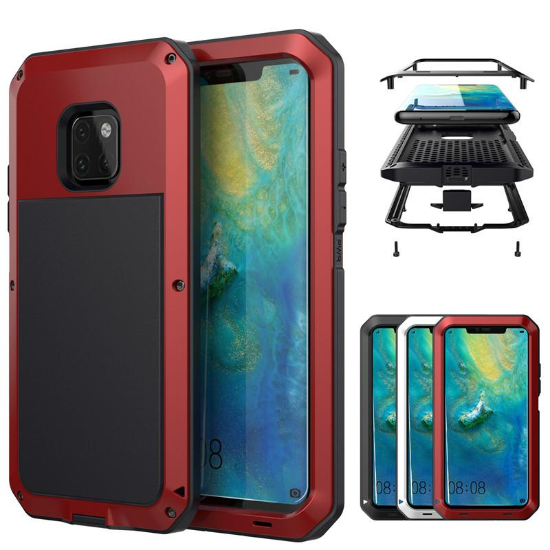 Aluminum Alloy Metal Case Tempered Glass Cover Shockproof Water Resistant Case For Samsung S5 S6 S6 Edge S7 S7 Edge S8 s9 Note5