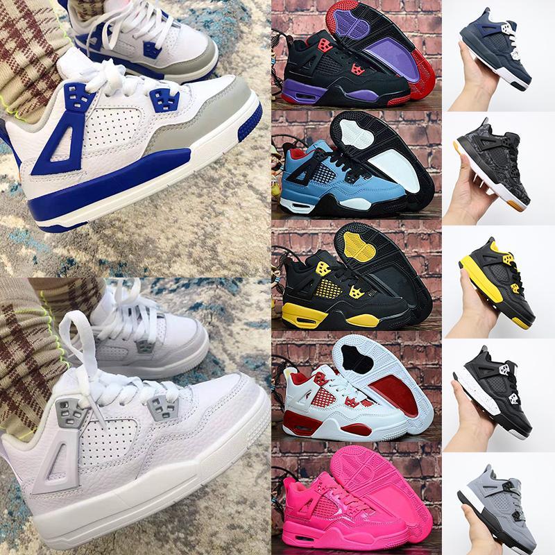 Air Jordan 4 Retro zapatos Air Zoom Cactus chaquetas para niños femeninos 4 baloncesto bebé de Jumpman 4s Entrega Violet lo que los Raptors Bred 2019 Travis Childrens Scotts