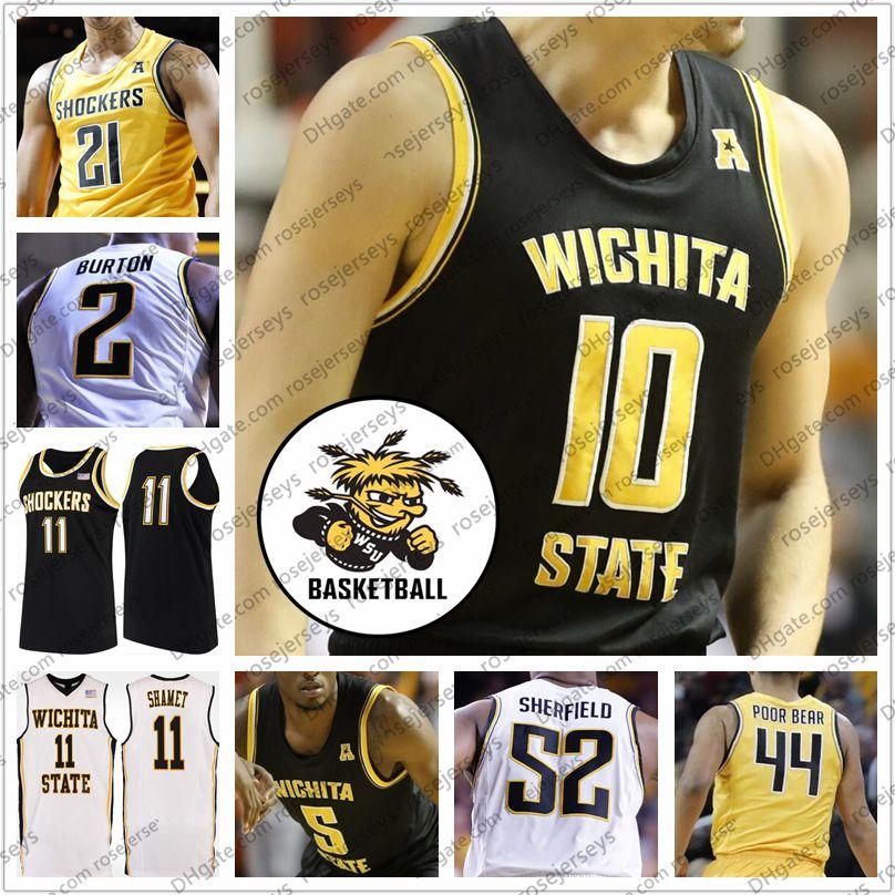 Jacob Herrs Wichita State Shockers Basketball Jersey-White
