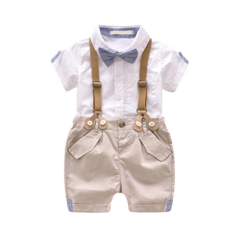 아기 유아 소년 의류 세트 여름 아기 정장 어린이 셔츠 아동 복 정장 결혼식 파티 의상