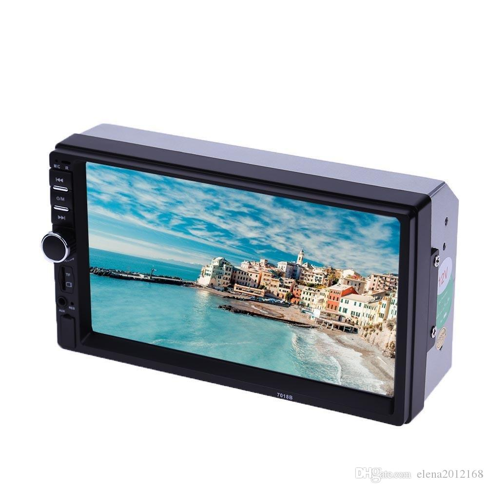"2 DIN radio de coche de 7"" HD Autoradio Multimedia Player 2DIN pantalla táctil de la cámara estéreo de audio del coche auto MP5 Bluetooth USB TF FM"