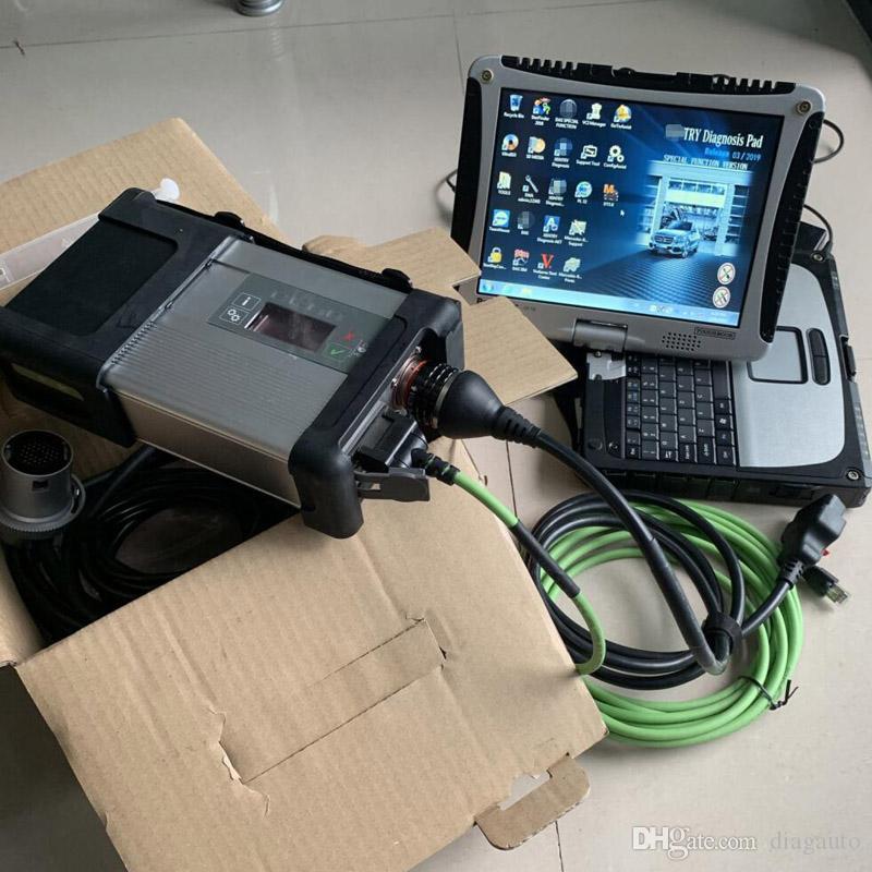 ЗВЕЗДА MB C5 OBD2 диагностический инструмент с CF-19 с сенсорным экраном ноутбука CF19 установлен 360gb SSD мягкой посуды с SD подключить 5 авто сканера