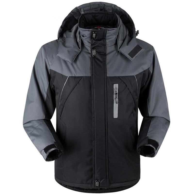 2019 Kış Parka Erkekler Artı Kadife Sıcak Rüzgar Geçirmez Mont Erkek Kapşonlu Ceketler Casacos erkek Dış Giyim Rahat Palto